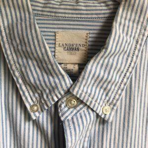 👔 Lands End - Oxford LS Shirt - Blue Stripe 👔